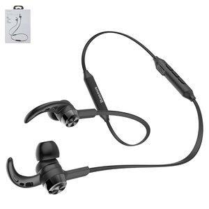 Гарнітура Baseus S06, плоский кабель, вакуумна, бездротова, чорна, micro USB тип B, з micro USB кабелем тип В, #NGS06 01