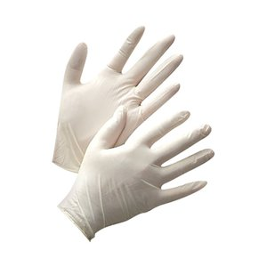Latex Gloves size M, 100pcs pack