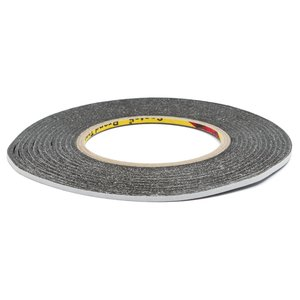 Double-sided Adhesive Tape 3M, (black, 0,07 mm, 3 mm, 50m, for sensors/displays sticking)