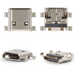 Charge Connector for Samsung I8190 Galaxy S3 mini, S7530, S7560, S7562 Cell Phones, (7 pin, micro USB type-B)