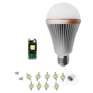 LED Light Bulb DIY Kit SQ-Q24 E27 9 W – cold white