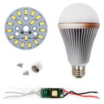 LED Light Bulb DIY Kit SQ-Q24 5730 9 W (cold white, E27), Dimmable