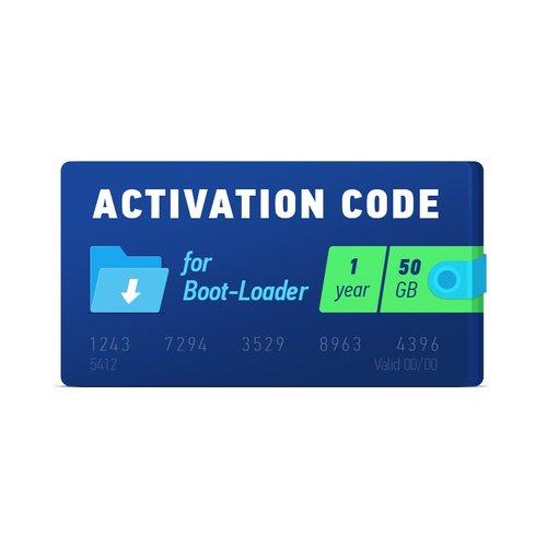 Boot-Loader 2.0 Código de activación (1 año, 50 GB)